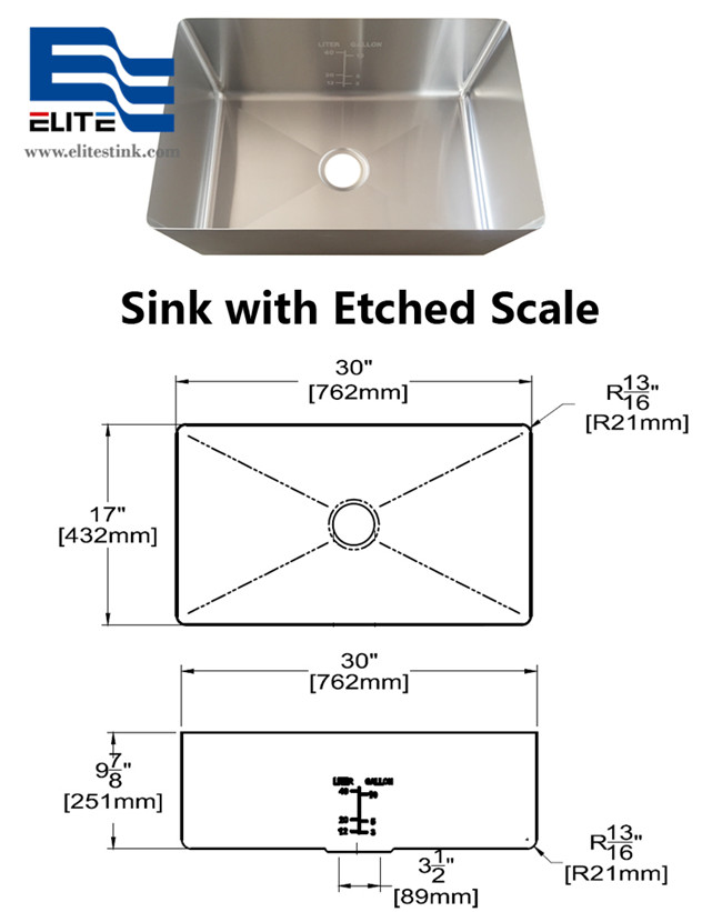 Sink with Logo Etched